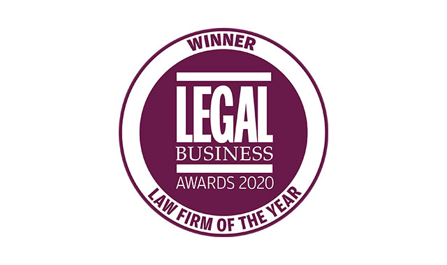 Eversheds Sutherland awarded Law firm of the Year at the Legal Business Awards 2020