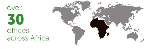 Over 37 offices across Africa