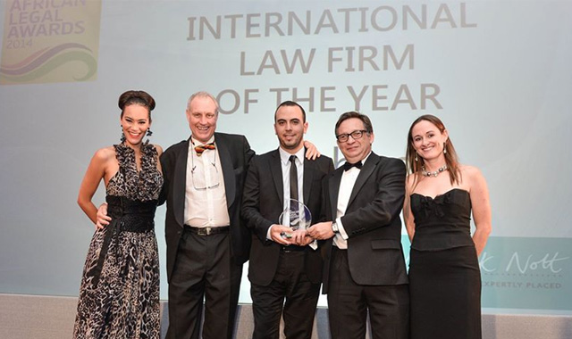 Winning top honours at the African Legal Awards 2014