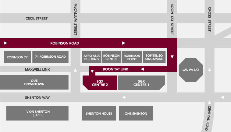 Directions to Carpark via Boon Tat Street