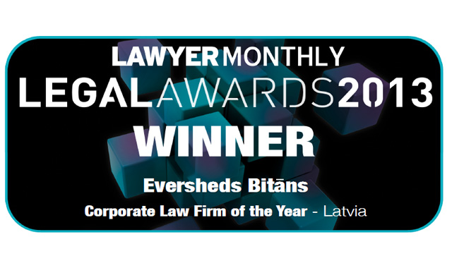 Eversheds Bitans winner at Lawyer Monthly 2013 Legal Awards