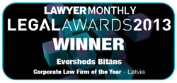 Eversheds Bitans Wins Lawyer Monthly Legal Awards 2013