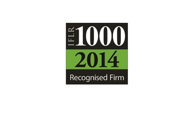 Eversheds recognised in the IFLR1000