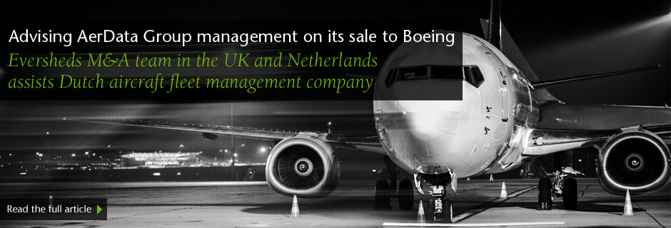 Advising AerData Group management on its sale to Boeing