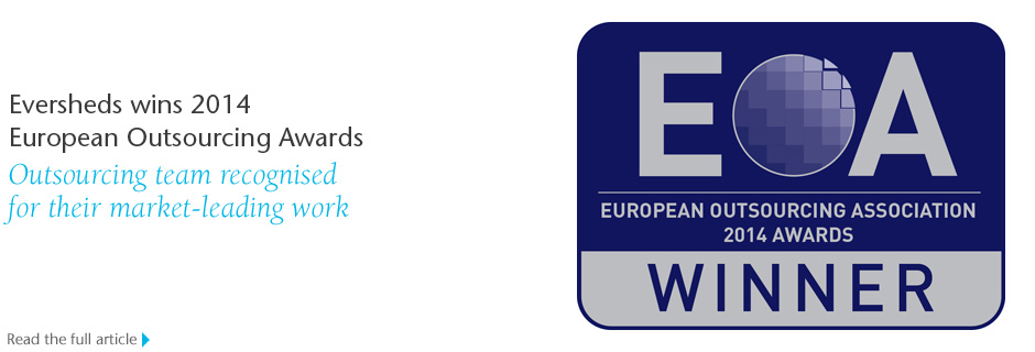 Eversheds wins 2014  European Outsourcing Awards