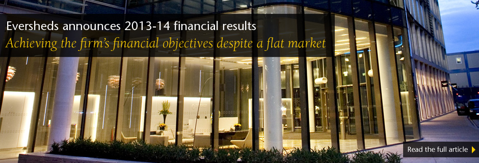 Eversheds announces 2013-14 financial results