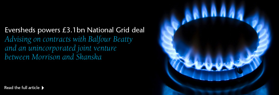 Eversheds powers £3.1bn National Grid deal