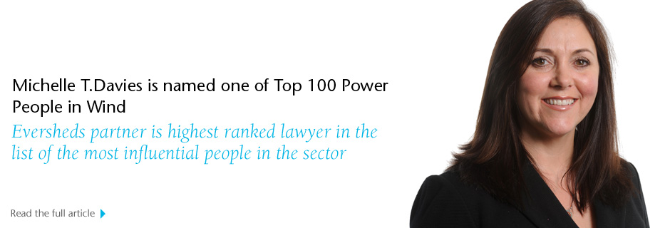 Michelle T.Davies is named one of Top 100 Power People in Wind