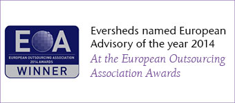 Eversheds named European Advisory of the year 2014 at the European Outsourcing Association Awards