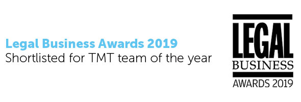 TMT team shortlisted for British Legal Awards 2019 Banner