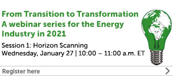 From Transition to Transformation - A webinar series for the Energy Industry in 2021