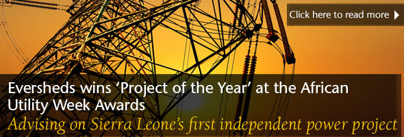 Eversheds wins 'Project of the Year' at the African Utility Week Awards
