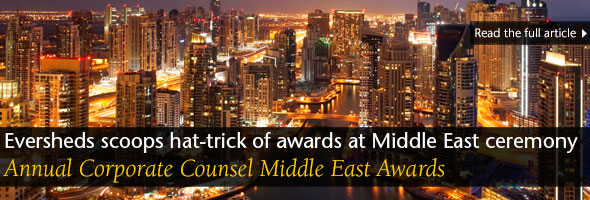 Eversheds scoops hat-trick of awards at Middle East ceremony