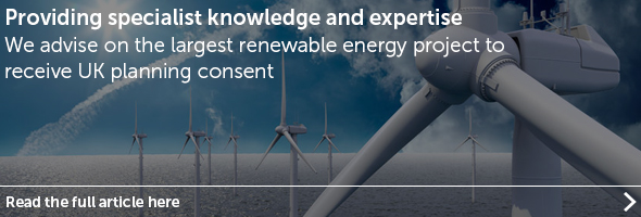 We advise on the largest renewable energy project to receive UK planning consent