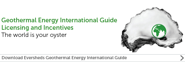 "Read: Eversheds Sutherland ""Geothermal Energy International Guide - Licensing and Incentives"""