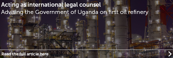 Eversheds advises Government of Uganda on first oil refinery