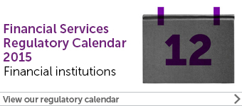 Financial Services Regulatory Calendar 2015