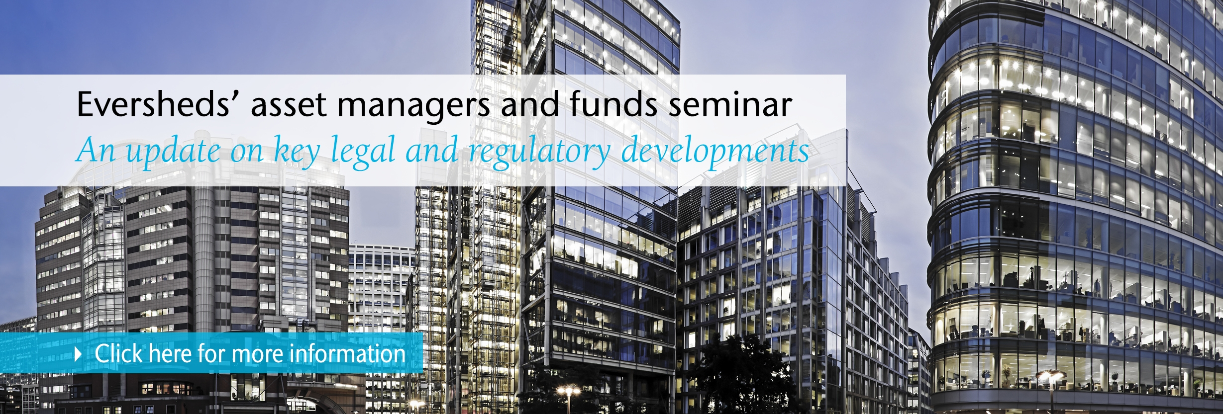 Asset managers seminar - click here for more info