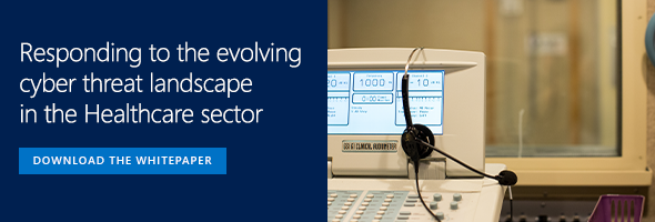 Microsoft Banner -  Download the whitepaper on evolving cyber threat landscape in the healthcare sector