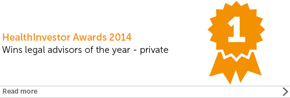 HealthInvestor Awards - Legal adviser of the year