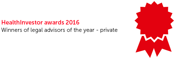 HealthInvestor Awards nomination - Legal adviser of the year private