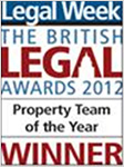 The British Legal Awards 2012 - Property Team of the Year
