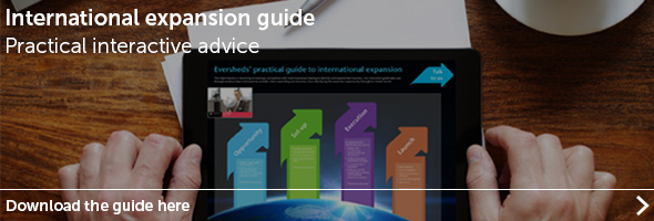 Eversheds guide to international expansion for retailers