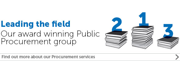 Leading the field - Procurement banner