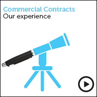 Commercial Contracts our experience - view the video