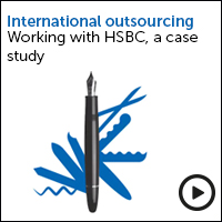 International outsourcing HSBC a case study - view the video