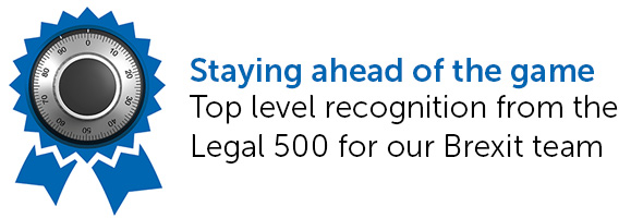Top level recognition from the Legal 500 for our Brexit team