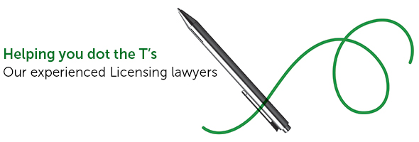 Licensing legal advice