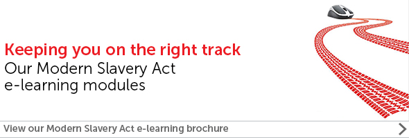 Modern Slavery Act e-learning modules brochure