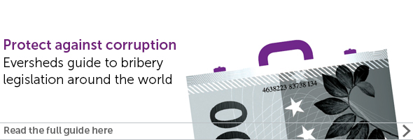 Eversheds guide to Bribery