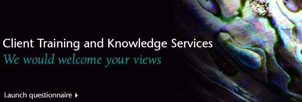 Client Training and Knowledge Services