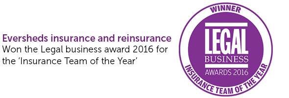 Insurance and reinsurance law firm award