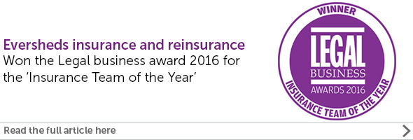 Eversheds wins Insurance Team of the Year