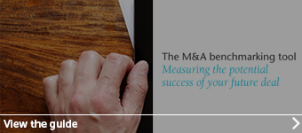 The M&A benchmarking tool