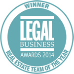 Legal Business Real Estate Team of the Year 2014